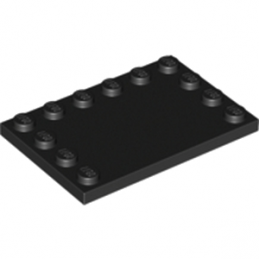 LEGO 618026	PLATE 4X6 W. 12 KNOBS - Black