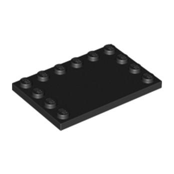 LEGO 618026 PLATE 4X6 W. 12 KNOBS - NOIR