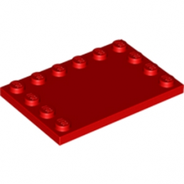 LEGO 618021 PLATE 4X6 W. 12 KNOBS - ROUGE