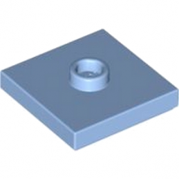 LEGO 4581079 PLATE 2X2 W 1 KNOB - Medium Blue