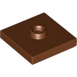 LEGO 4565394  PLATE 2X2 W 1 KNOB - REDDISH BROWN