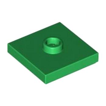 LEGO 4565321 PLATE 2X2 W 1 KNOB - DARK GREEN
