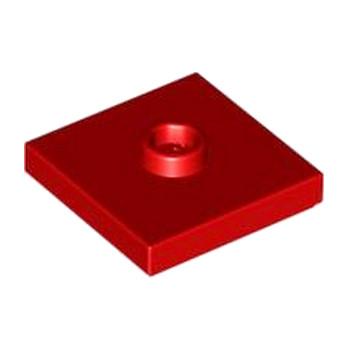 LEGO 4565389 PLATE 2X2 W 1 KNOB - ROUGE