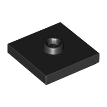 LEGO 4565323 PLATE 2X2 W 1 KNOB - NOIR