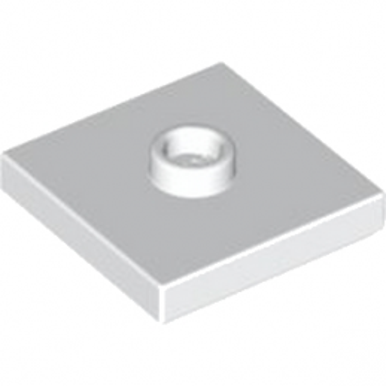 LEGO 4565324  PLATE 2X2 W 1 KNOB - BLANC
