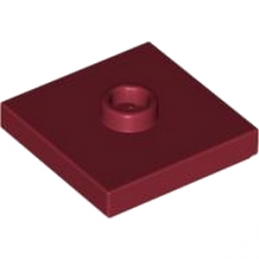 LEGO 4613761 PLATE 2X2 W 1 KNOB - NEW DARK RED