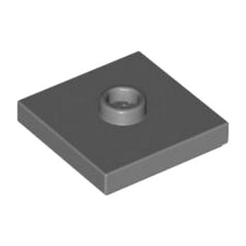 LEGO 4565322  PLATE 2X2 W 1 KNOB - DARK STONE GREY
