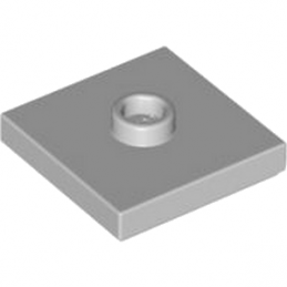 LEGO 4565371 PLATE 2X2 W 1 KNOB - MEDIUM STONE GREY