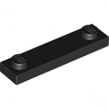 LEGO 4599499 PLATE 1X4 W. 2 KNOBS - NOIR lego-6254045-plate-1x4-w-2-knobs-noir ici :