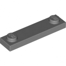 LEGO 4598769 	PLATE 1X4 W. 2 KNOBS - Dark Stone Grey