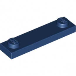 LEGO 6036240 PLATE 1X4 W. 2 KNOBS - Earth Blue