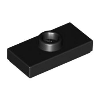 LEGO 379426 PLATE 1X2 W. 1 KNOB - NOIR lego-6092585-plate-1x2-w-1-knob-noir ici :