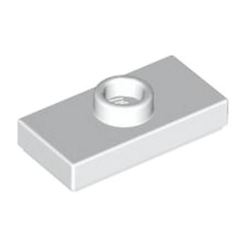 LEGO 379401 PLATE 1X2 W. 1 KNOB - BLANC
