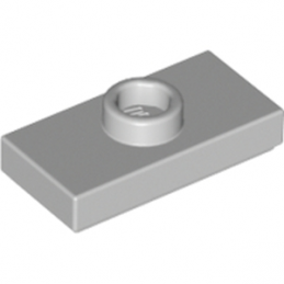 LEGO 4211451 	PLATE 1X2 W. 1 KNOB - Medium Stone Grey