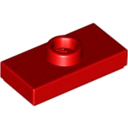 LEGO 379421 Plate Lisse 1x2 + tét - Rouge