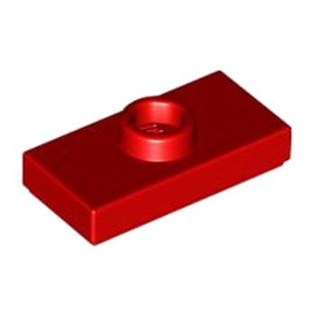 LEGO 379421 PLATE 1X2 W. 1 KNOB - ROUGE