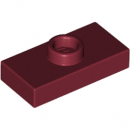 LEGO 6092597 PLATE 1X2 W. 1 KNOB - NEW DARK RED