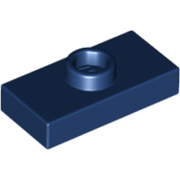 LEGO 4186627 PLATE 1X2 W. 1 KNOB - EARTH BLUE