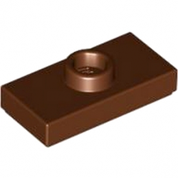 LEGO 4219726 PLATE 1X2 W. 1 KNOB - REDDISH BROWN