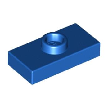 LEGO 379423 PLATE 1X2 W. 1 KNOB - BLEU lego-6092582-plate-1x2-w-1-knob-bleu ici :