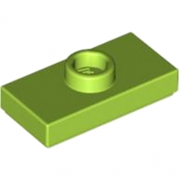 LEGO 4500069 	PLATE 1X2 W. 1 KNOB - Bright Yellowish Green