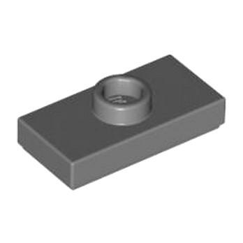 LEGO 4211119 PLATE 1X2 W. 1 KNOB - Dark Stone Grey