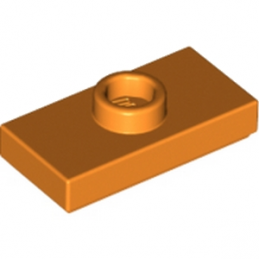 LEGO 4159973 	PLATE 1X2 W. 1 KNOB - Bright Orange