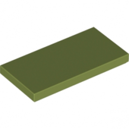LEGO 6016488 PLATE LISSE  2X4 - OLIVE GREEN