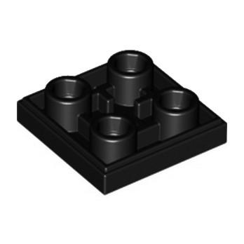 LEGO 6013867 PLATE LISSE 2x2 INVERSE - NOIR