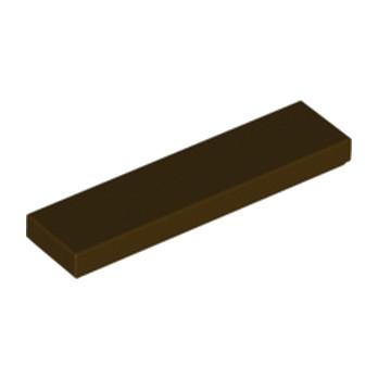 LEGO 6313874 FLAT TILE 1X4 - DARK BROWN