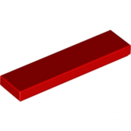 LEGO 243121 	PLATE LISSE  1X4 - ROUGE