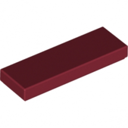 LEGO 4583299  PLATE LISSE 1X3 - NEW DARK RED lego-4583299-plate-lisse-1x3-new-dark-red ici :