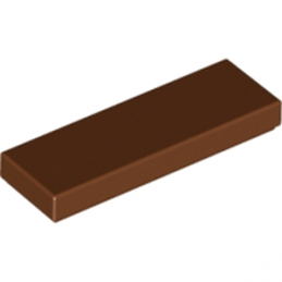 LEGO 4666343 PLATE LISSE 1X3 - REDDISH BROWN lego-6100769-plate-lisse-1x3-reddish-brown ici :