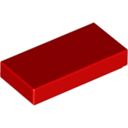 LEGO 306921 FLAT TILE 1X2 - RED