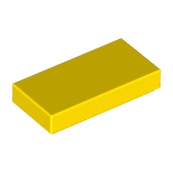 LEGO 306924 FLAT TILE 1X2 - YELLOW
