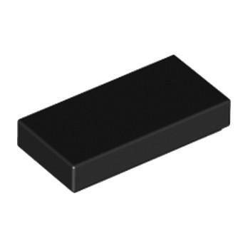 LEGO 306926 FLAT TILE 1X2 - BLACK