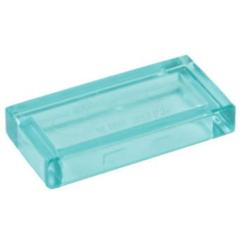 LEGO 4585132 PLATE LISSE 1X2 - BLEU TRANSPARENT