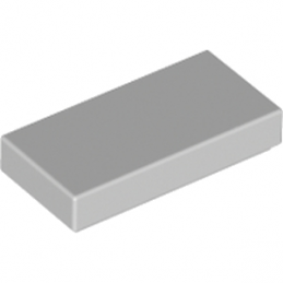 LEGO 4211414 PLATE LISSE 1X2 - MEDIUM STONE GREY