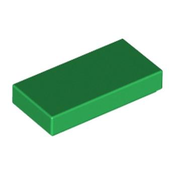 LEGO 306928 FLAT TILE 1X2 - DARK GREEN