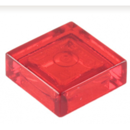 LEGO 307041 PLATE LISSE 1X1 - Rouge Transparent