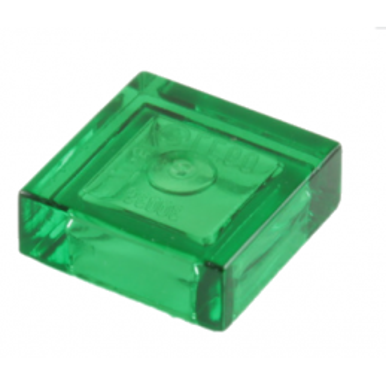 LEGO 307048 PLATE LISSE 1x1 - Vert Transparent