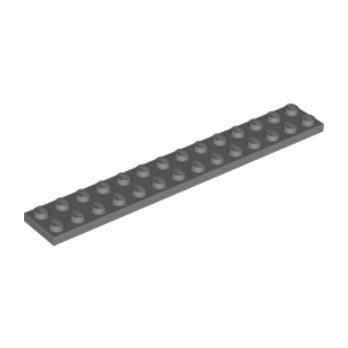 LEGO 6000970 PLATE 2X14 - Dark Stone Grey