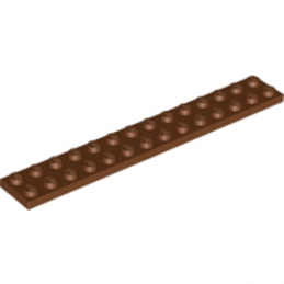 LEGO 6004996  PLATE 2X14 - Reddish Brown