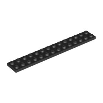 LEGO 6001494  PLATE 2X14 - Noir