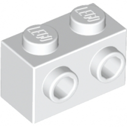LEGO 6058177  BRIQUE 1X2 W. 2 KNOBS - BLANC