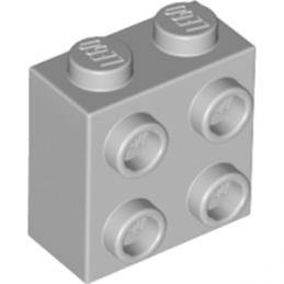 LEGO 6123809  BRIQUE 1X2X1 2/3 W/4 KNOBS  - Medium Stone Grey