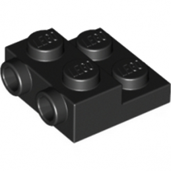 LEGO 6052126 PLATE 2X2X23 W. 2. HOR. KNOB - NOIR