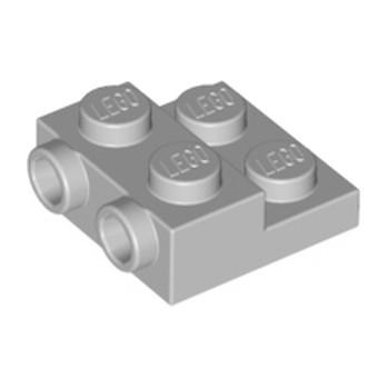 LEGO 4654577 PLATE 2X2X23 W. 2. HOR. KNOB - Medium Stone Grey