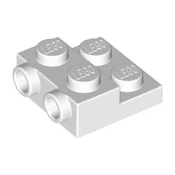 LEGO 6046979 PLATE 2X2X23 W. 2. HOR. KNOB - BLANC