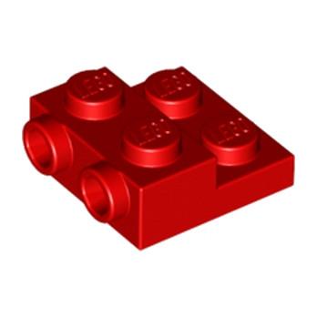 LEGO 6061711 PLATE 2X2X2/3 W. 2. HOR. KNOB - ROUGE
